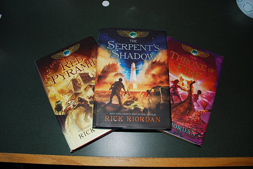 The Kane Chronicles by Rick Riordan - Hardcover editions