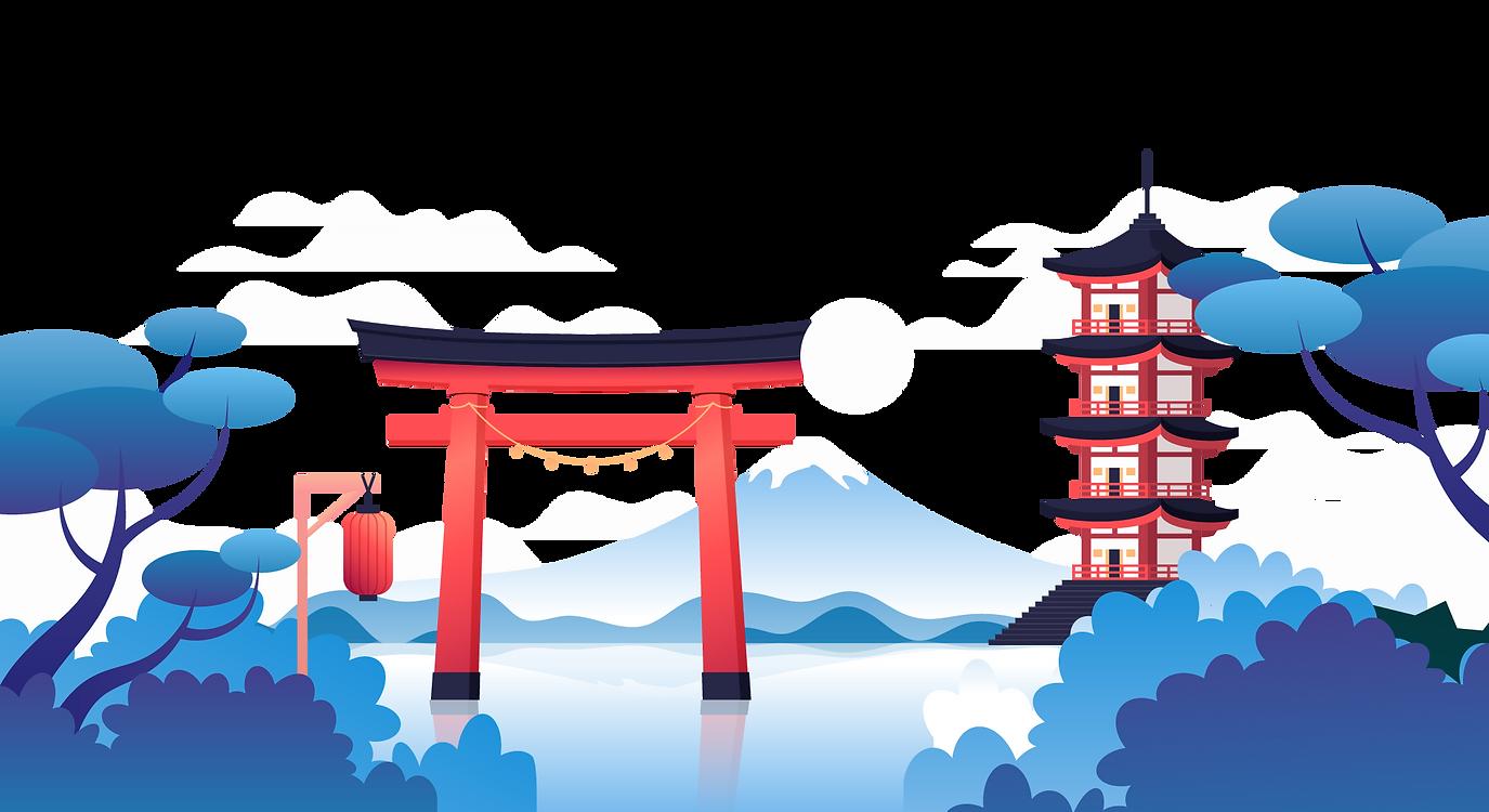 winter camp in japan flyer design-deco e