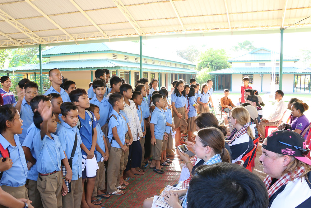 Students sing farewell to OLSH visitors
