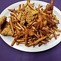 Fried Seafood 1/2 & 1/2 Combo