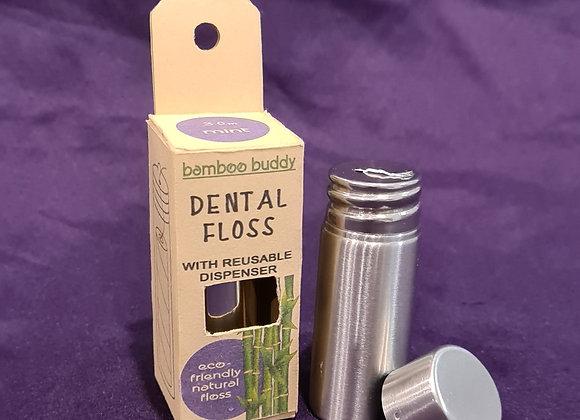 Natural Silk Mint Floss with Dispenser (x 10)