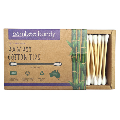 Bamboo Buddy Cotton Tips square