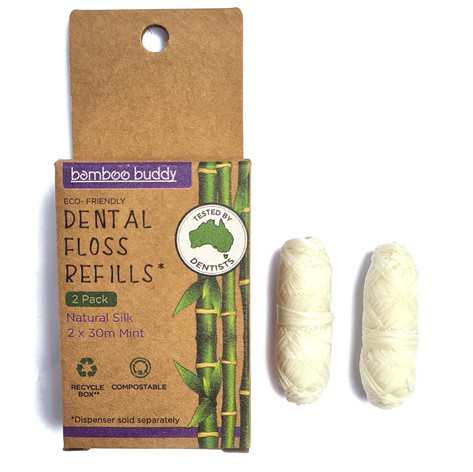 Bamboo Buddy floss refills square