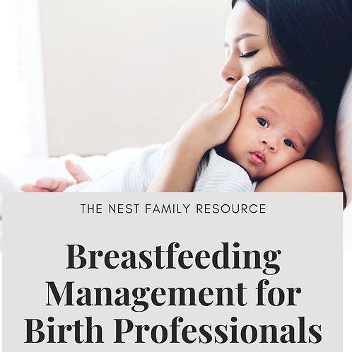 Breastfeeding Management for Birth Professionals