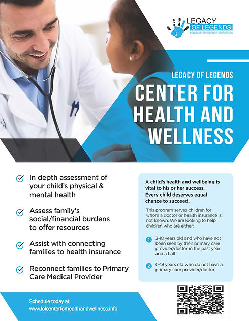 LOL Center for Health and Wellness Flyer