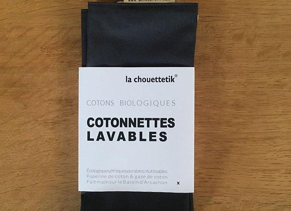 Cotonnettes lavables XL - Gaze de coton - Coton biologique - Lot de 4