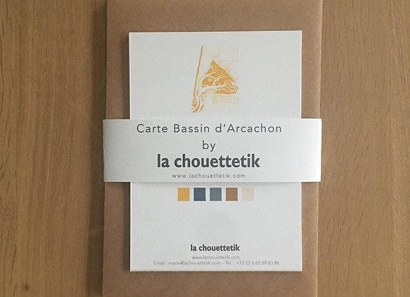 """Cartes """"par amour du bassin"""" - Bouton d'or"""