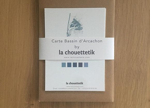 """Cartes """"par amour du bassin"""" - Gris de bleus"""