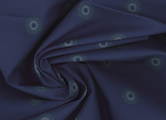 Popeline coton Bio - Motif floral foncé