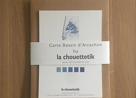 """Cartes """"par amour du bassin"""" - Douceur bleue"""