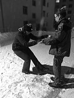 exercice sous la neige