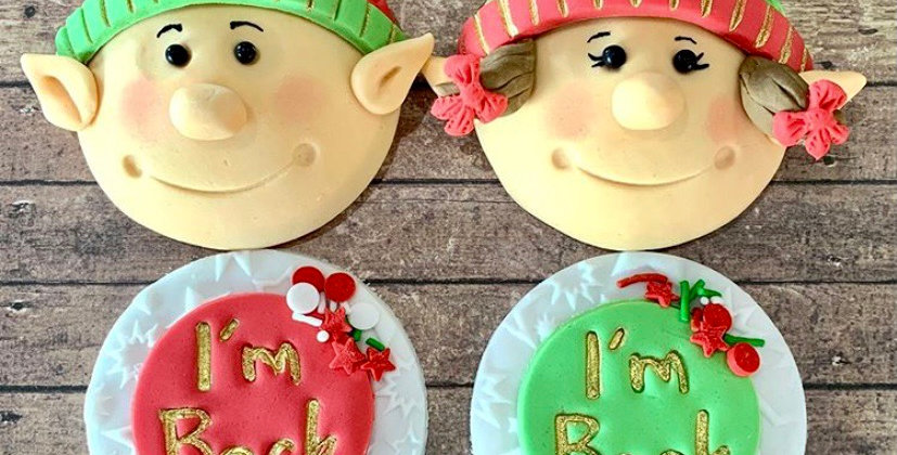 Elf Cupcakes x2 SOLD OUT for Xmas
