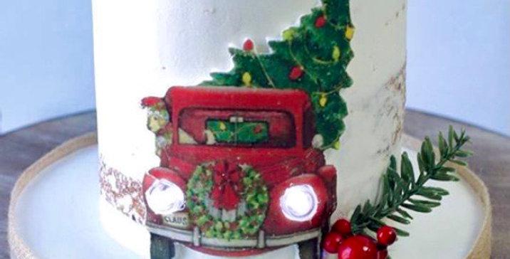 Buttercream Christmas cake with choice of design (+ Vegan & Gluten free )