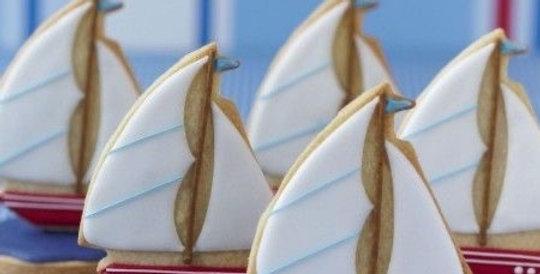 2D Sail Boat Biscuit Decorating Kit
