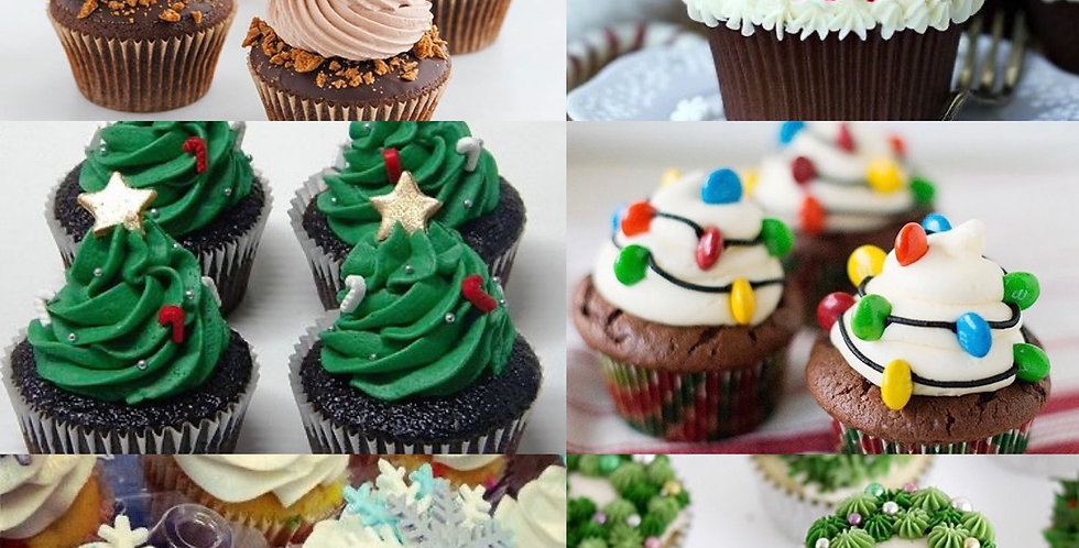 Mixed Christmas Buttercream Cupcakes (x6) SOLD OUT for Xmas
