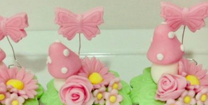 Toadstool Garden Cupcake Decorating Kit