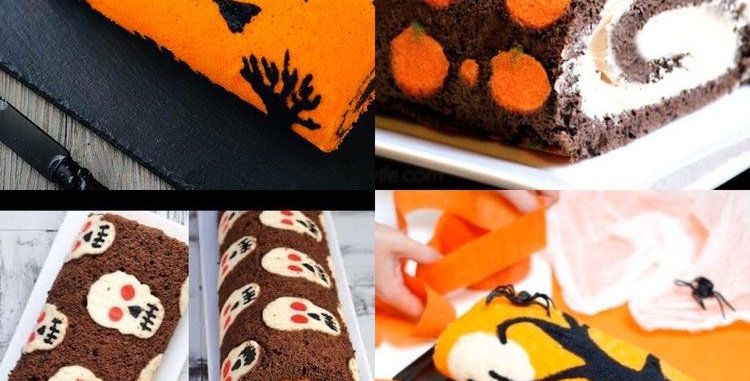 Halloween Swiss Roll Cake