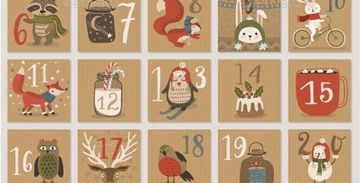 Decorate your own gingerbread advent calendar