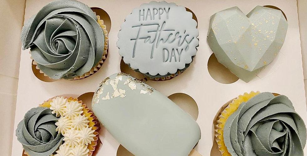 Father's Day cupcake treat box