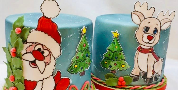 Decorate your own Christmas cake kit