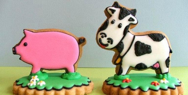 Farm Animal 2D Biscuit Decorating Kit