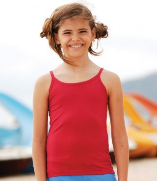 Girls Spaghetti Vest Top (SM212)