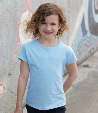 Girls Fruit of the Loom T Shirt (SS77B)