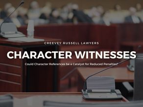 COULD CHARACTER REFERENCES BE A CATALYST FOR REDUCED PENALTIES?