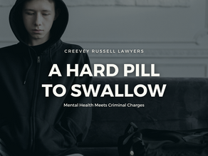 A HARD PILL TO SWALLOW: MENTAL HEALTH MEETS CRIMINAL CHARGES.