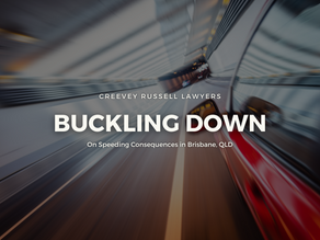 BUCKLING DOWN ON SPEEDING CONSEQUENCES IN BRISBANE, QLD