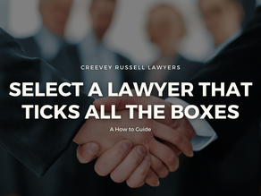 HOW TO: SELECT A LAWYER THAT TICKS ALL THE BOXES
