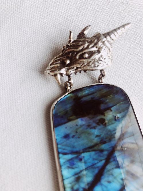 Labradorite Dragon Pendant