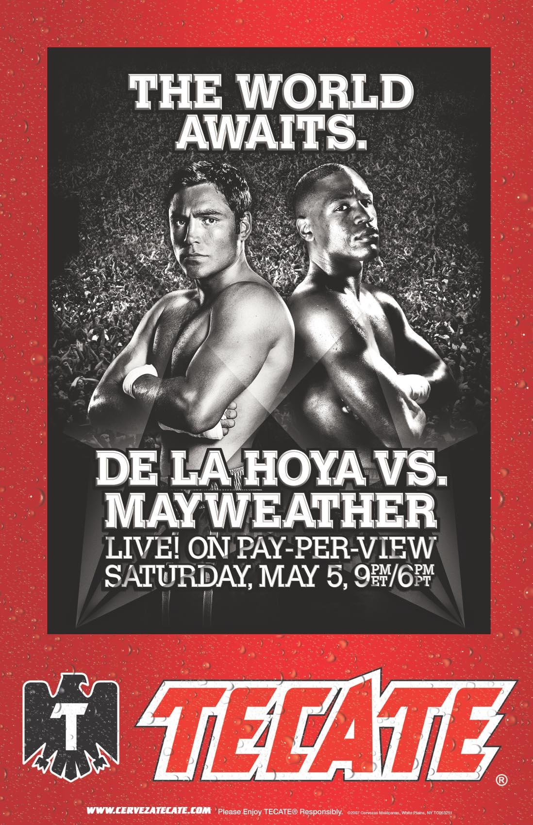De la Hoya-Mayweather poster