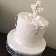 White 1st Communion Cake