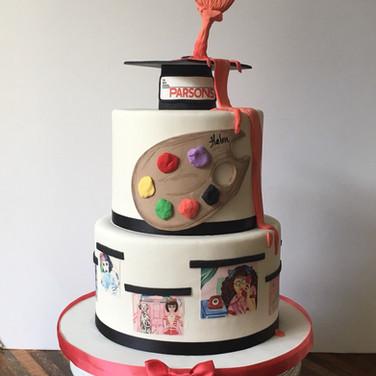 Artist Graduation Cake
