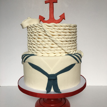 Navy Send Off Cake