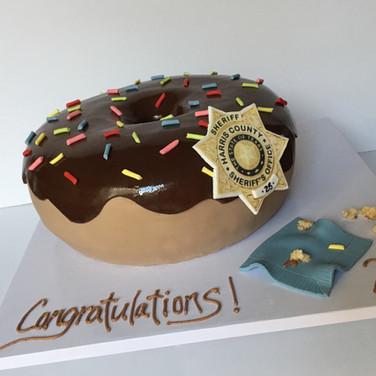 Sherrif Retirement Cake