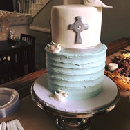 Boy's Baptism Cake