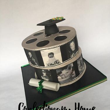 Film Reel Graduation Cake