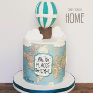 Oh the Places You Will Go Shower Cake