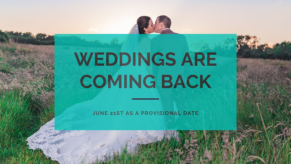 Weddings are coming back, as early as June 21st