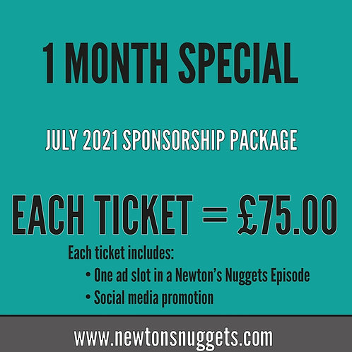 July Newton's Nuggets Sponsorship