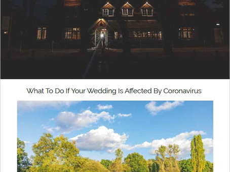 Advice for Weddings Affected by Coronavirus