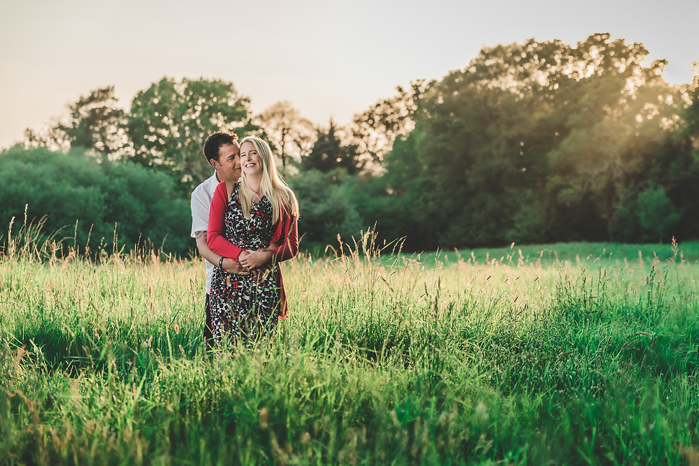 engagement photoshoot with a couple in love