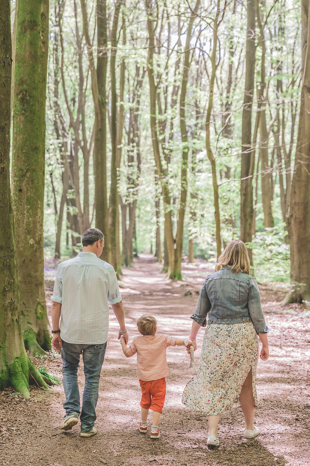Family Engagement shoot in the woods