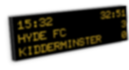 Inview football scoreboard