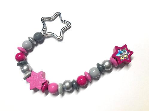 Schlüsselanhänger Pink Star