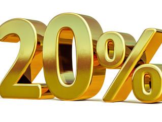 20% Rabatt nur noch bis zum 30.9.17