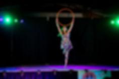 Jessica Short Hula Hoop Performer on sta