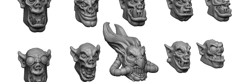 Orc Warboy Head Set